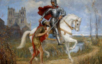 Svatý Martin, patron vojáků, jezdců, koní a podkovářů, vinařů, cestujících, chudáků a žebráků, zajatců, abstinentů, domácích zvířat a hus i úrody na polích