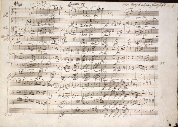 Mozart 904374 1280 Mozart Quartet In C Notes Handwritten Music Pixabay WikimediaImages