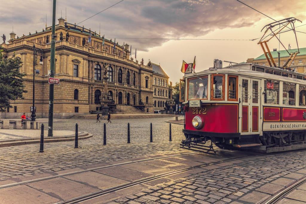 Pražská historická tramvaj Prague historic tram Praha zážitkové procházky a akce