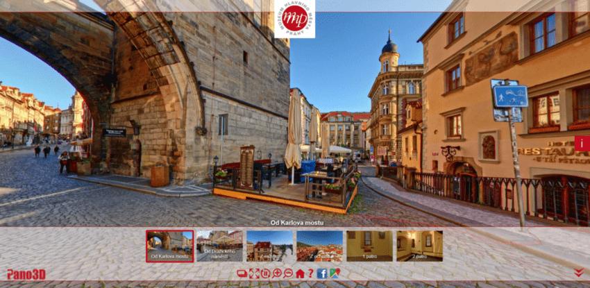 Virtuální procházky a prohlídky, Praha – muzea, národní galerie, pražský hrad, věže, památky