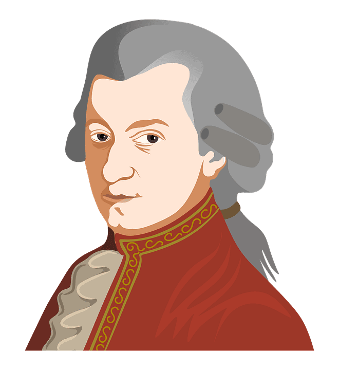 Wolfgang Amadeus Mozart (Zdroj: Aalmeidah, Pixabay.com)