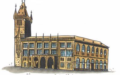 Historie východního a severního křídla Staroměstské radnice