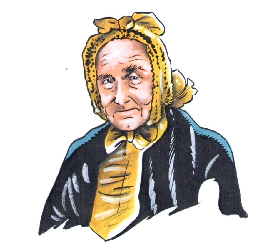 Paní Anna Náprstková (Kresba: Jiří Filípek)