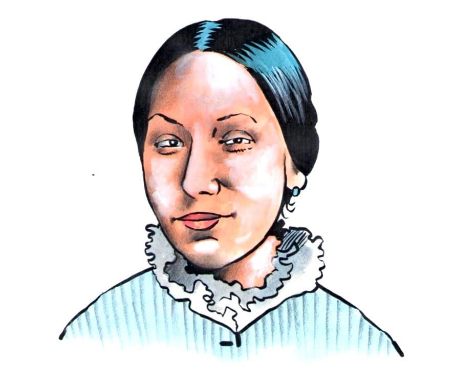Paní Josefa Náprstková (Kresba: Jiří Filípek)